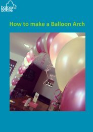 How To Create A Balloon Arch Guide