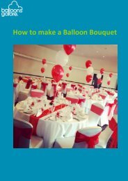 How To Create A Balloon Bouquet Guide