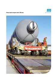 Heavy load transport with 700 tons - SSF Ingenieure