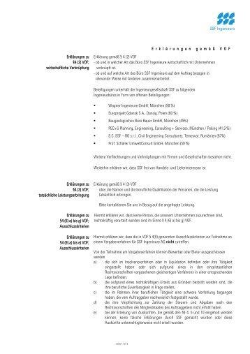 E rkl ä rungengem ä ß VOF Erklärungen zu §4 (2 ... - SSF Ingenieure