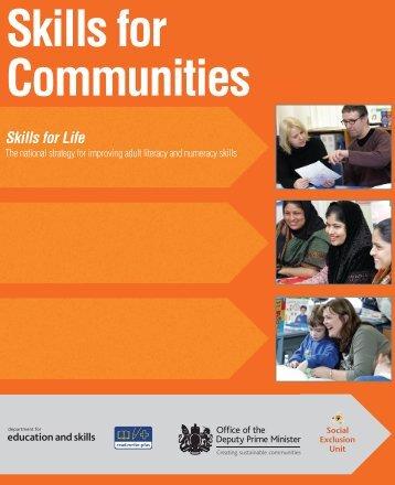Skills for Communities - Index of