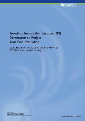 Transition Information Sessions (TIS) Demonstration Project – Year ...