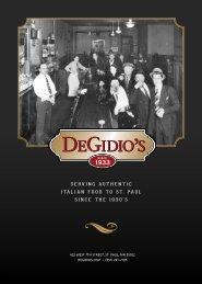 Download PDF Dinner Menu - DeGidio's Restaurant & Bar