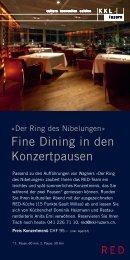Fine Dining in den Konzertpausen - KKL Luzern