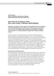 2012/03 Medieninformation Wertschöpfungsstudie KKL Luzern