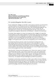 2010/08 Medieninformation Partnerschaft St. Charles ... - KKL Luzern