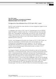2011/04 Medieninformation Geschäftsjahr 2010 - KKL Luzern