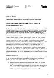 Finanzierungslösung steht - KKL Luzern