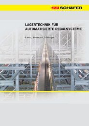 lagertechnik für automatisierte regalsysteme - SSI Schäfer