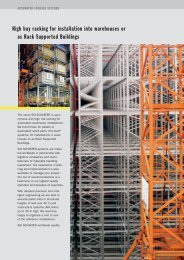High bay racking for installation into warehouses or ... - SSI-Schaefer