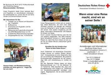 Reiseprogramm 2012 als PDF zum herunterladen