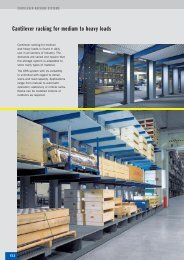 Cantilever racking for medium to heavy loads - SSI-Schaefer