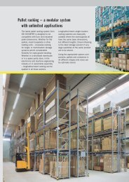 Pallet racking – a modular system with unlimited ... - SSI-Schaefer