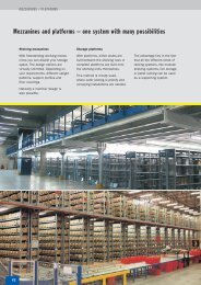 Mezzanines and platforms – one system with many ... - SSI-Schaefer