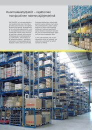 Kuormalavahyllystöt – rajattoman monipuolinen rakennusjärjestelmä