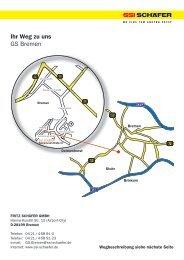 Ihr Weg zu uns GS Bremen - SSI-Schaefer