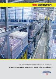 hocheffizientes kompaktlager für getränke - SSI Schäfer