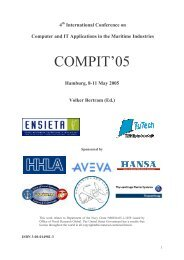 COMPIT 2005 in Hamburg - TUHH