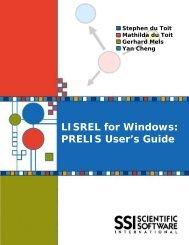 PRELIS User's Guide - Scientific Software International, Inc.