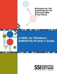 SURVEYGLIM User's Guide - Scientific Software International, Inc.