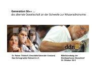 Generation 50++, Dr. Rainer Thiehoff - Stadtsparkasse Düsseldorf