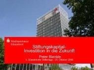 Stiftungskapital-Investition in die Zukunft - Stadtsparkasse Düsseldorf