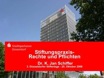 Stiftungspraxis-Rechte und Pflichten