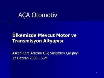AÇA Otomotiv - Savunma Sanayii Müsteşarlığı