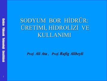 Borlu Yakıtlar ve Yakıt Pilleri, Prof.Dr.Ali ATA