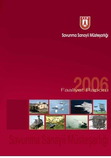 2006 Yılı Faaliyet Raporu - Savunma Sanayii Müsteşarlığı