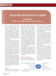 Sistem Gerçekleştirme ve Lojistik - Savunma Sanayii Müsteşarlığı