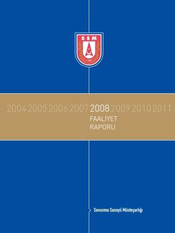 2008 Yılı Faaliyet Raporu - Savunma Sanayii Müsteşarlığı