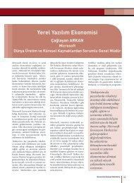 Yerel Yazılım Ekonomisi - Savunma Sanayii Müsteşarlığı