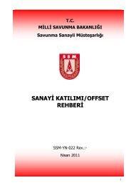 Sanayi Katılımı ve Offset (SK/O) - Savunma Sanayii Müsteşarlığı