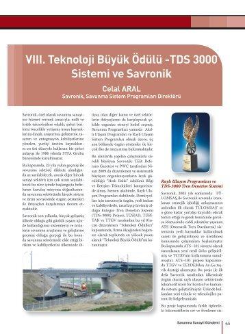 TDS 3000 Sistemi ve Savronik - Savunma Sanayii Müsteşarlığı