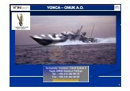 YONCA – ONUK A.O. ONUK A.O. - Savunma Sanayii Müsteşarlığı