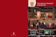 2009/1 • Sayı : 7 • ISSN - 1307 - 8380 - Savunma Sanayii Müsteşarlığı