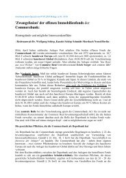 'Zwangsfusion' der offenen Immobilienfonds der ... - Ssma.de