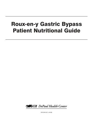 Laparoscopic gastric bypass patient manual guide.