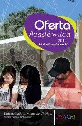 Oferta Académica UNACHI 2014