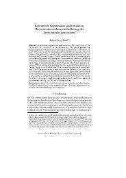 Konvention, Organisation und Institution. Der ... - SSOAR