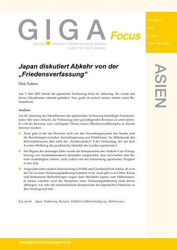 """Japan diskutiert Abkehr von der """"Friedensverfassung"""""""