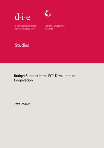 Budget Support in the EC's Development Cooperation - Deutsches ...