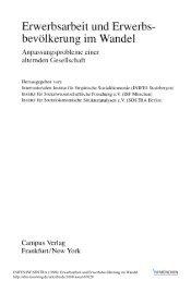 Erwerbsarbeit und Erwerbsbevölkerung im Wandel ... - SSOAR