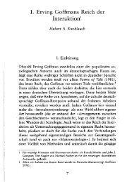 1. Erving Goffmans Reich der Interaktion' - SSOAR