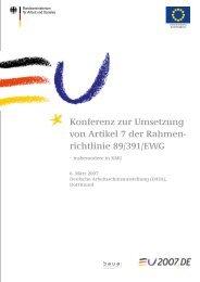 Konferenz zur Umsetzung von Artikel 7 der Rahmen ... - SSOAR