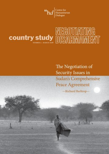 The Negotiation of Security Issues in Sudans Comprehensive Peace ...