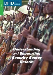 Understanding and supporting security sector reform