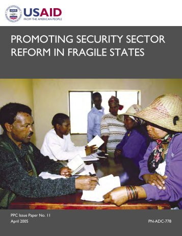 promoting security sector reform in fragile states - GFN-SSR