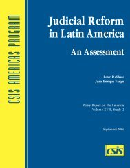 Judicial Reform in Latin America - Center for Strategic and ...